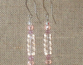 Premiere Collection - Pink Glass Earrings