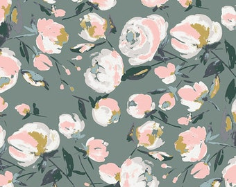 Art Gallery Fabrics, Everlasting Blooms, Fusion Sparkler, FUS-SK-1303, Quilt Fabric, Cotton, Floral, Quilting, Pink, Fabric By the Yard