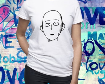 One Punch Man shirt/ Saitama tshirt/ Anime tee/ Japanese anime/ womens t shirt/ women tee/ One-Punch Man/ Superhero/ Saitama shirt/ (B170)