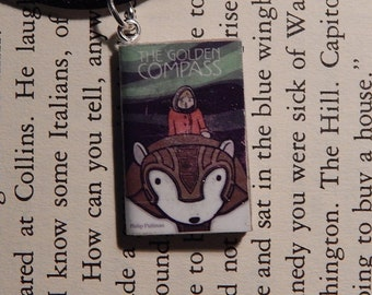 The Golden Compass Inspired Book Necklace, Brooche, or Keychain