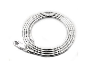 18 inch Sterling Silver 1.3mm Snake Chain with Lobster Clasp