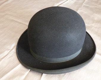French Vintage Bowler Hat