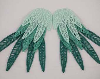 Embroidered Lace Wings, Pick your color