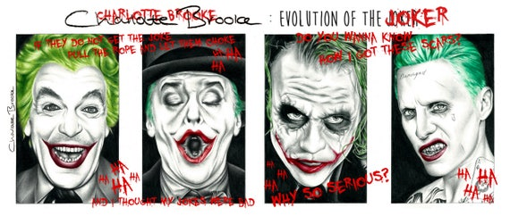 Like this item?  sc 1 st  Etsy & The Evolution of the Joker and Batman Pencil Portrait