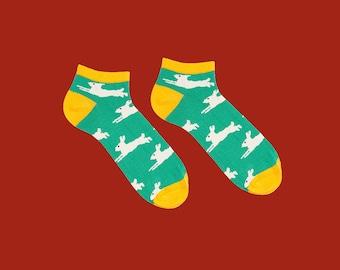 Chaussettes courtes Janes, vert chaussettes, chaussettes de lapin, l'été, chaussettes pour hommes et femmes
