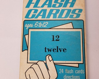 Bible Numbers Flash Cards Vintage Sunday School Church