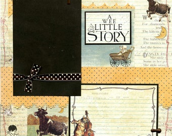 A Wee Little Story - 12x12 Premade Baby Scrapbook Page