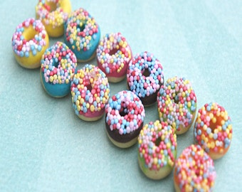 candy sprinkles donut earrings- miniature food jewelry, donuts jewelry