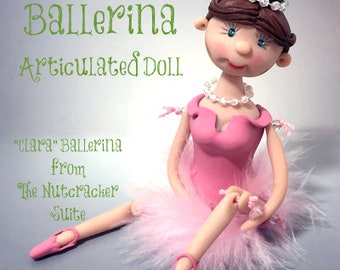 Polymer Clay Ballerina Articulated Doll Tutorial by Katie Oskin of KatersAcres