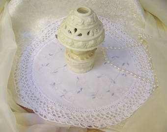 White Crochet Centerpiece, Hand Crochet, Table Topper, Doily, Doilie, Lace, Lacy, Home Decor, Accent
