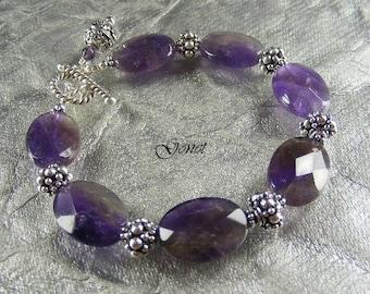 Amethyst Bracelet  by Gonet Jewelry Design