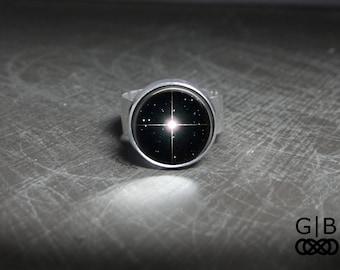Sirius Star Ring Sirius Star Jewelry - Sirius Star Statement Ring Silver Star Ring - Silver Sirius Star Silver Ring Jewelry - Silver Ring