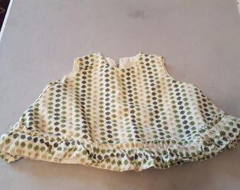Vintage 1960's Baby Doll Dress Tent Dress Sleeveless 8-10 inch dolls
