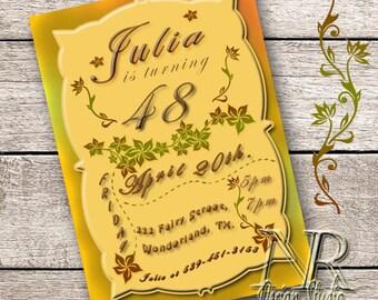 Birtdhay party, Birthday card, Birthday invitations