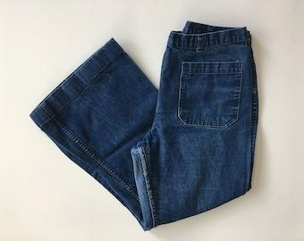 Vintage Denim Sailor Pants 33 x 27 bMdiTuuH