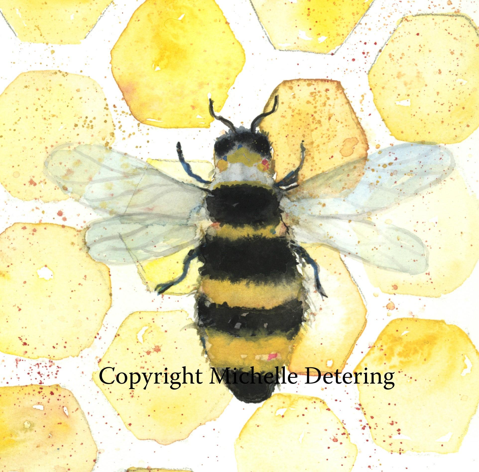 Queen Bee Bee Watercolor Bee Watercolor Art Honey Bee