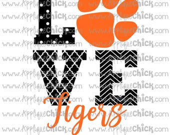 Love Tigers SVG Clipart DXF