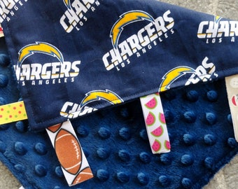 Los Angeles Chargers Sensory Lovey, I Spy Lovey, Minky Lovey, Chargers Baby, Baby Shower Gift, San Diego Chargers Sensory Lovey, LA Chargers