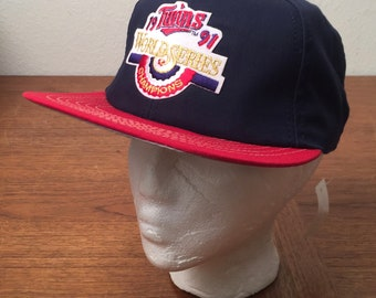 Minnesota Twins 1991 World Series Champions Officially Licensed Deadstock Snapback
