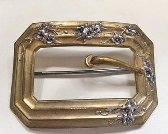Victorian Sash Pin or Brooch Art Nouveau Fishel Nessler