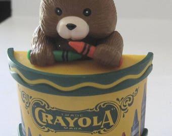 1992 Binney Smith Crayola Bear Crayons Drum Christmas Tree Ornament