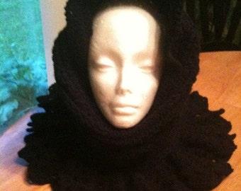 Cowl,  Hood, Cowl and Hood Combo, Black, Crochet, Womens accessories, Womens fashions, Head wear, Neckwear
