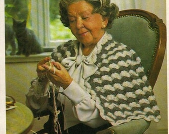 Vintage Crochet Cozy Cape for Granny instant download crochet pattern