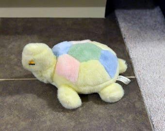 Vintage Pastel Turtle Plush