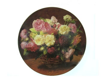 home decor plate -  kitchen and Dining - decorative plate  - Shabby Chic plate - collectible plate - Gardener gift - # 45