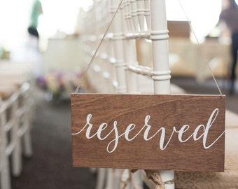 Reserved Sign, Wedding Reserved Sign, Reserved Wedding Sign, Reserved Chair Sign, Reserved Table Sign, Wooden Wedding Signs, Wedding Signs