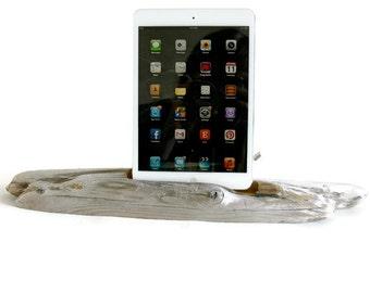 Docking Station, Driftwood iPad dock, iPad Charger, iPad mini Charging Station, driftwood ipad dock, wood ipad dock/ Driftwood- No. 309