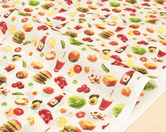 Japanese Fabric Hamburgers - cotton lawn - 50cm
