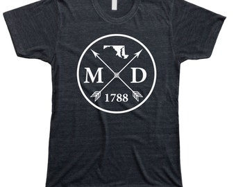 Homeland Tees Men's Maryland Arrow T-Shirt