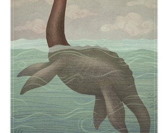 Loch Ness Monster -  A4 art print