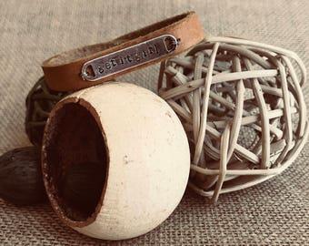 Get it Girl Hand-Stamped Bracelet