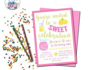 Lemonade Invitation, Lemonade Party, Lemonade Birthday