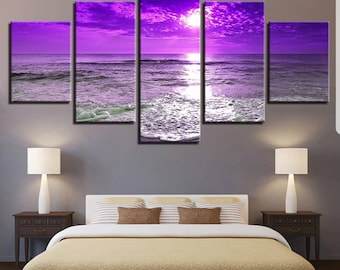 Beautiful Seascape beach 5 Panel Canvas Set