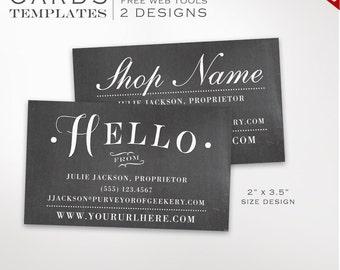 Chalkboard Magnet Template - Printable Magnet Design Template - DIY Magnets Printable Business Card Magnet Template Design BCMG AAA