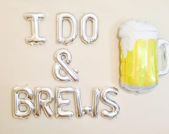 I DO and BREWS, Couple Shower, Engagement Parties, Engagement Party Balloons, I do BBQ Theme, Couple Wedding Showers, Engagement Balloons,