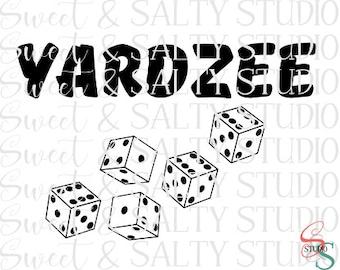 Yardzee digital file (includes dice pip template, pdf score card, image for bucket)