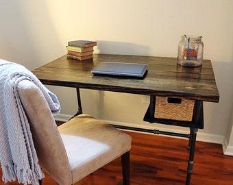 Steel and Wood Desk w/ Shelf