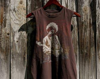 Vintage custom cut Jimi Hendrix T-shirt