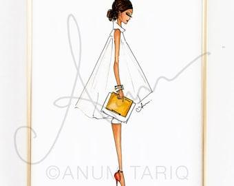 Fashion Illustration Print, Alice + Olivia