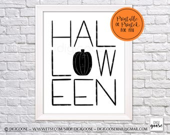 CLEARANCE!! // Instant Download // HALLOWEEN Print // Halloween Printable // Halloween Printable Decor // Halloween Wall Art // Wall Print
