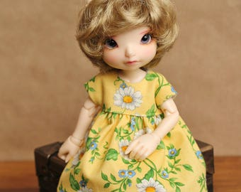 Fresh as a Daisy Dress for Realfee, Lati Yellow SP, and Blythe Dolls | Yellow Floral Dress for Blythe Dolls & Realfee BJDs