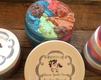 Unicorn Sparkle Circus Strawberry Cheesecake Scrub