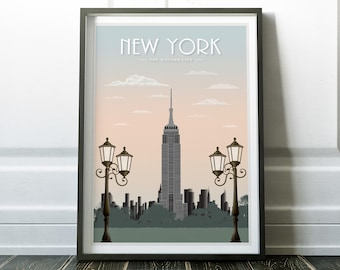 New York Poster, Wall Art, New York Print, Travel Print, Travel Poster, New  York Wall Art, Wall Art Print, Travel Art, New York, City Poster