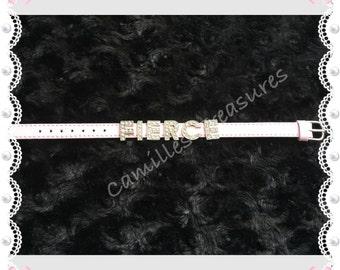 Pink Fierce slider bracelet