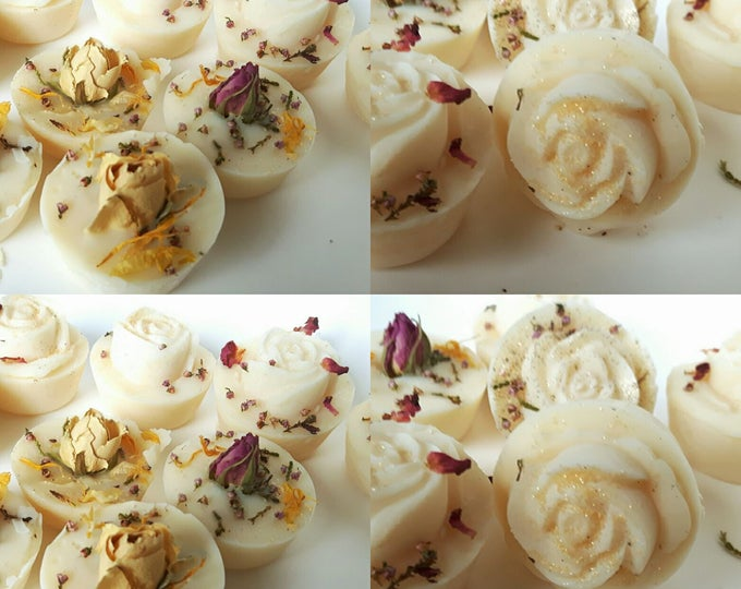 10 x WEDDING FAVOUR SOAPS. Natural Vegan. Mixed. Baby Shower/Thank You soap. No Palm Oil. No artificial colours or scents. 2.5 oz.