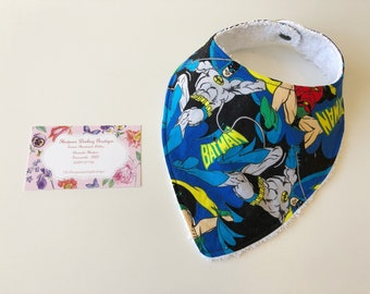 Batman and Robin baby bandana dribble bib